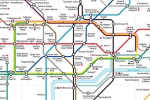 Metro kaart Londen