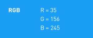 HEX berekening voor blauw